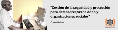 """Curso on line """"Gestión de la seguridad y protección para defensores/defensoras de ddhh y organizaciones sociales"""""""