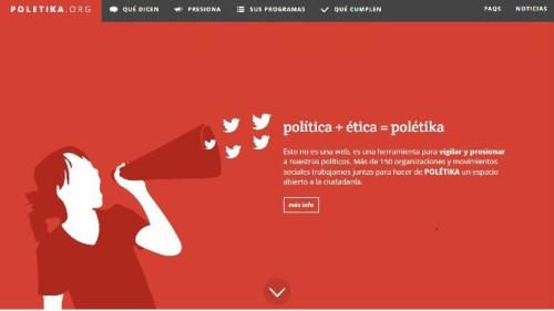 Nace Polétika.org, plataforma de presión y vigilancia de los compromisos políticos en distintas áreas, entre ellas cooperación.
