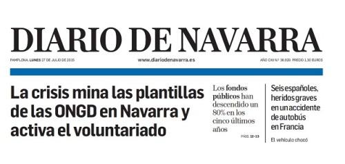 Luces y sobras de los efectos de la crisis en las ONGD en Navarra, por un lado mina la plantilla de las entidades, por otro activa el voluntariado