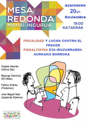 Cartel_MahaiIngurua_FiscalidadYLuchaContraElFraude