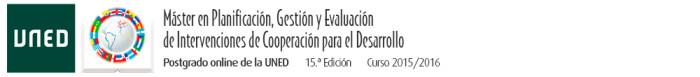 Máster en Planificación, Gestión y Evaluación de Intervenciones de Cooperación para el Desarrollo (UNED)