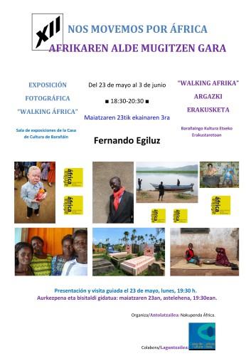 """XII Jornadas """"Nos movemos por África"""" (del 23 de Mayo al 3 de Junio en Barañain 2016)"""