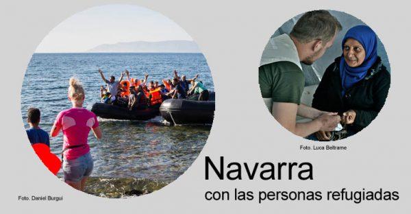 """""""Navarra con las personas refugiadas"""", """"Nafarroa errefuxiatuekin"""", campaña para apoyar a las ONGD en el terreno"""