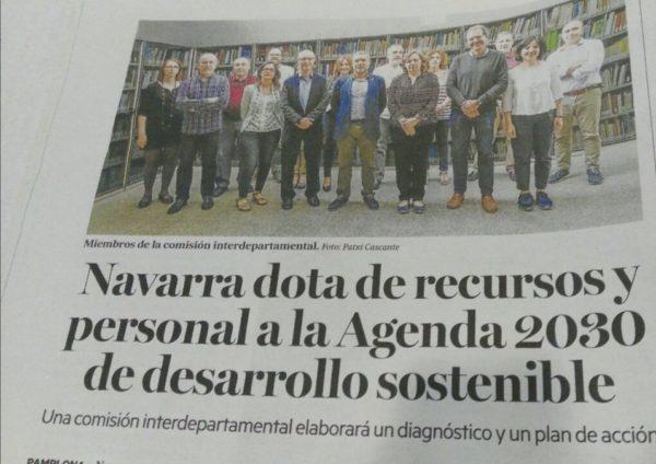 Paso adelante en Navarra con la Agenda 2030
