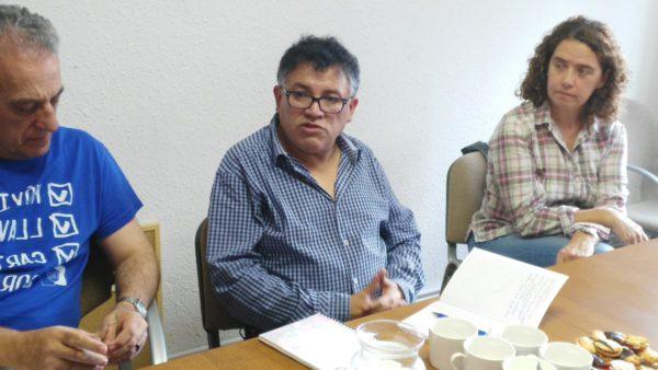 Visita de Gonzalo Soruco, representante de la ONGD boliviana IPTK