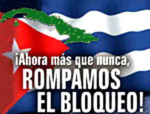 Solidaridad con Cuba. Campaña contra el bloqueo