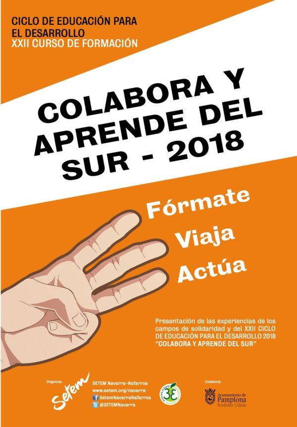 """XXII Curso de formación """"Colabora y aprende del Sur 2018"""" (Fórmate, viaja y actúa)"""
