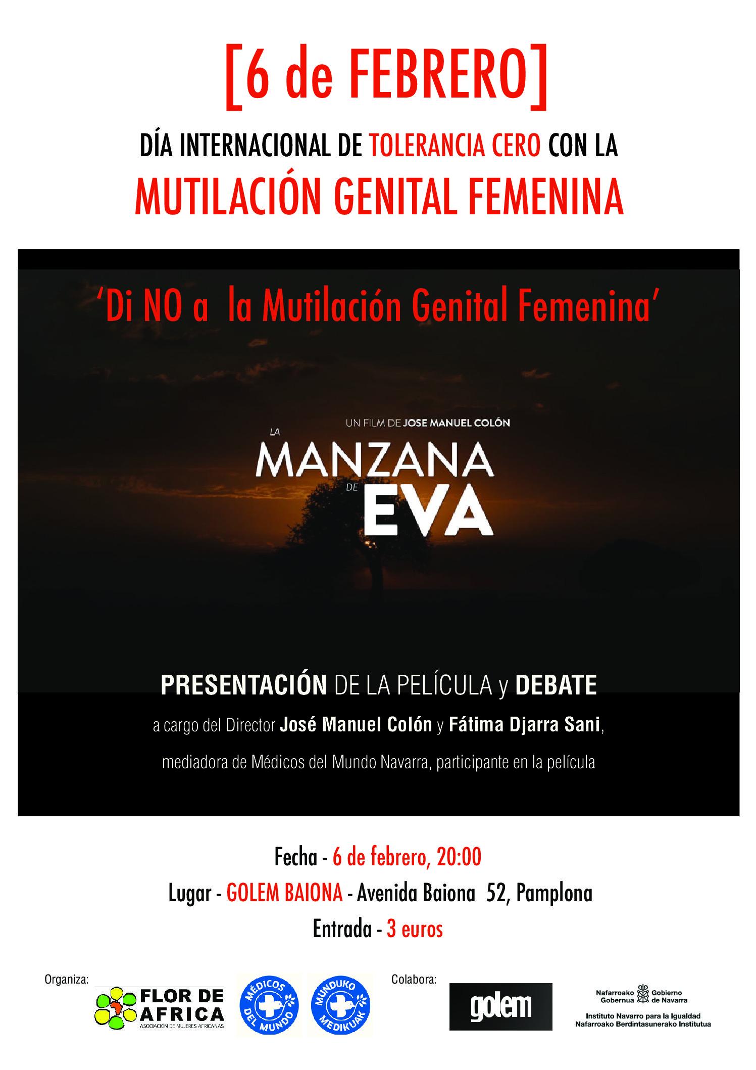 """6 de Febrero """"Día Internacional de Tolerancia Cero con la Mutilación Genital Femenina"""""""