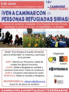 Ven a caminar por la personas refugiadas