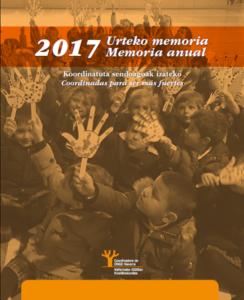 """""""Coordinadas para ser más fuertes"""" / """"Koordinatuta sendoagoak izateko"""" (Memoria 2017)"""