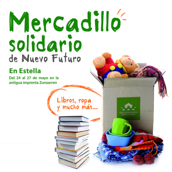 Mercadillo Solidario en Estella (24 al 27 de Mayo)