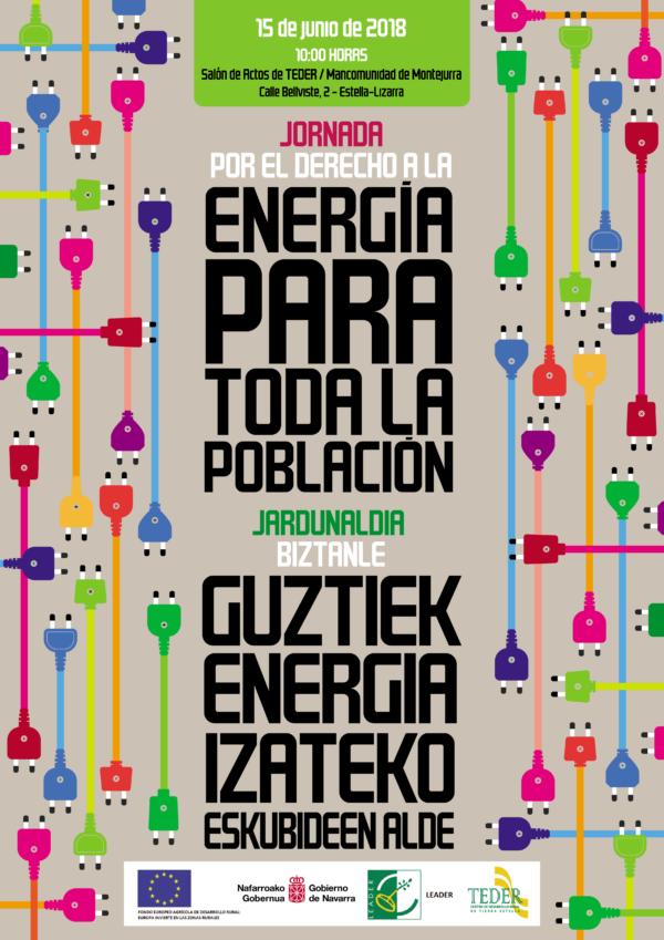 """Encuentro """"Por el Derecho a la Energía para Toda la Población / Jardunaldia Biztanle Guztiek Energia Izateko Eskubideen Alde""""."""