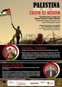 "Conferencia ""Palestina, existir es resistir / Palestina, izan, bizi, eutsi"""