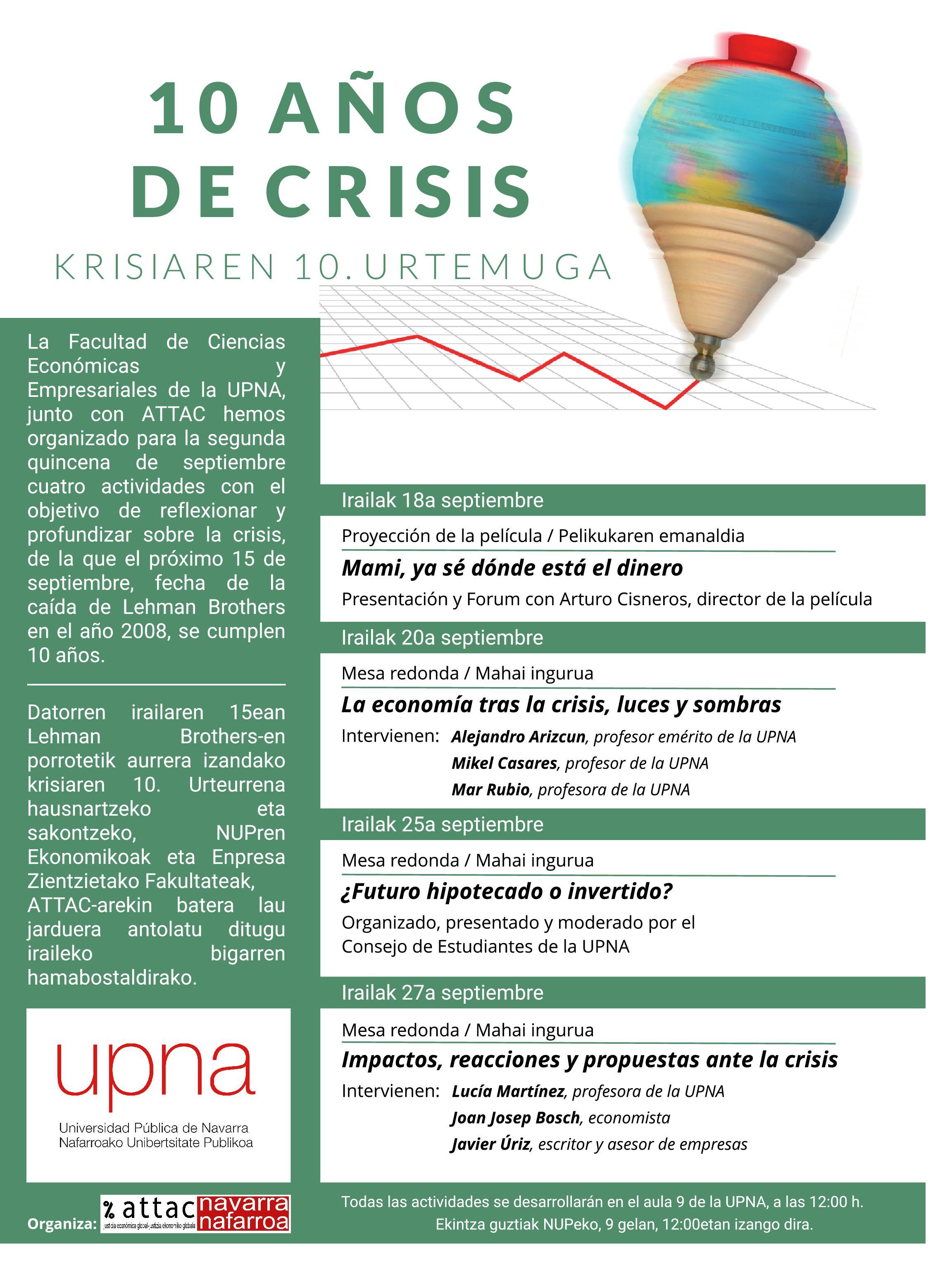 """Jornadas """"10 años de crisis"""""""