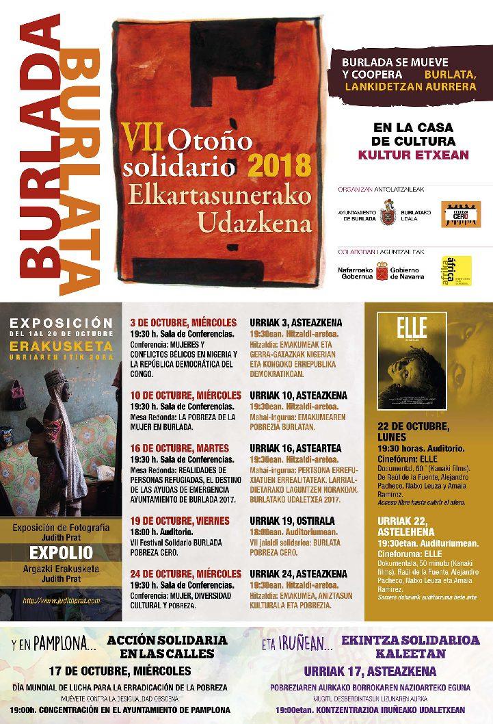 VII Otoño Solidario/ Elkartasunerako Udazkena (3 al 24 Octubre)