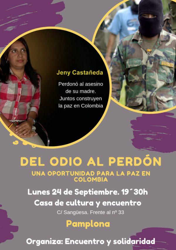 """Charla """"Del odio al perdón"""". Una oportunidad para la paz en Colombia"""