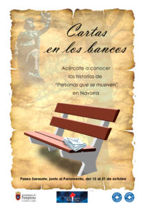 """Exposición """"Cartas en los bancos"""" en el Paseo Sarasate"""