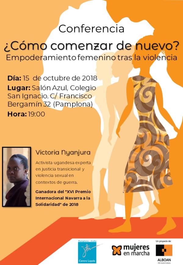 Conferencia ¿Cómo comenzar de nuevo? Empoderamiento femenino tras la violencia.