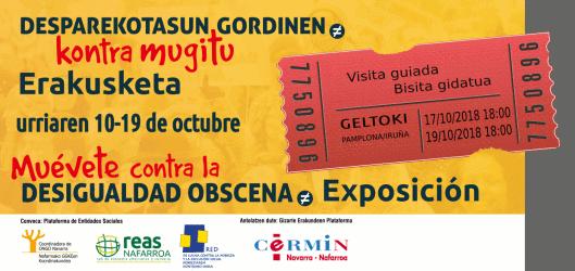 Inauguramos en Geltoki una exposición vivencial en el marco del 17 de octubre, Día Internacional para la Erradicación de la Pobreza, impulsada por la Plataforma de Entidades Sociales (PES)