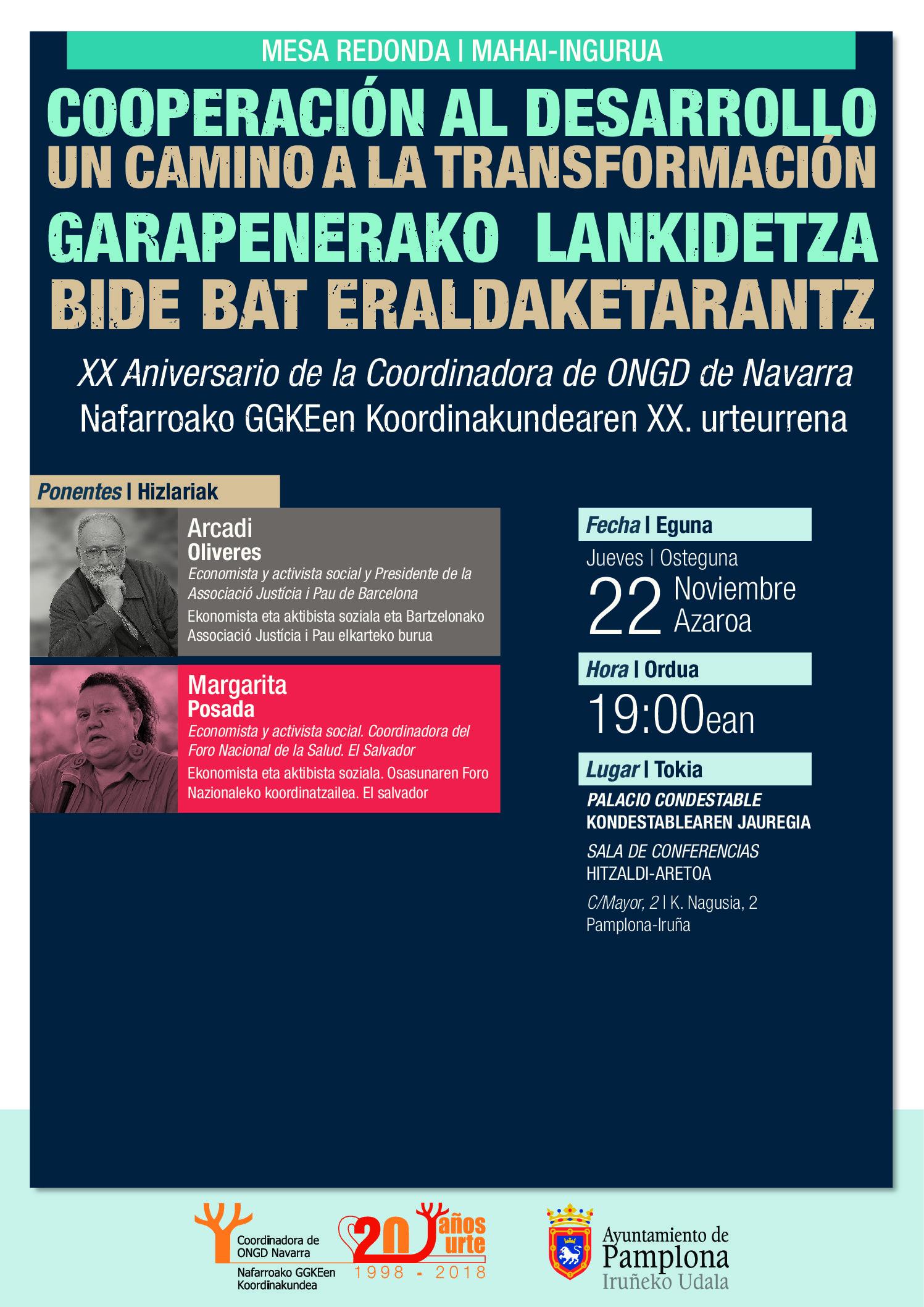 Celebramos nuestro 20 Aniversario en un Encuentro con Margarita Posada y Arcadi Oliveres.