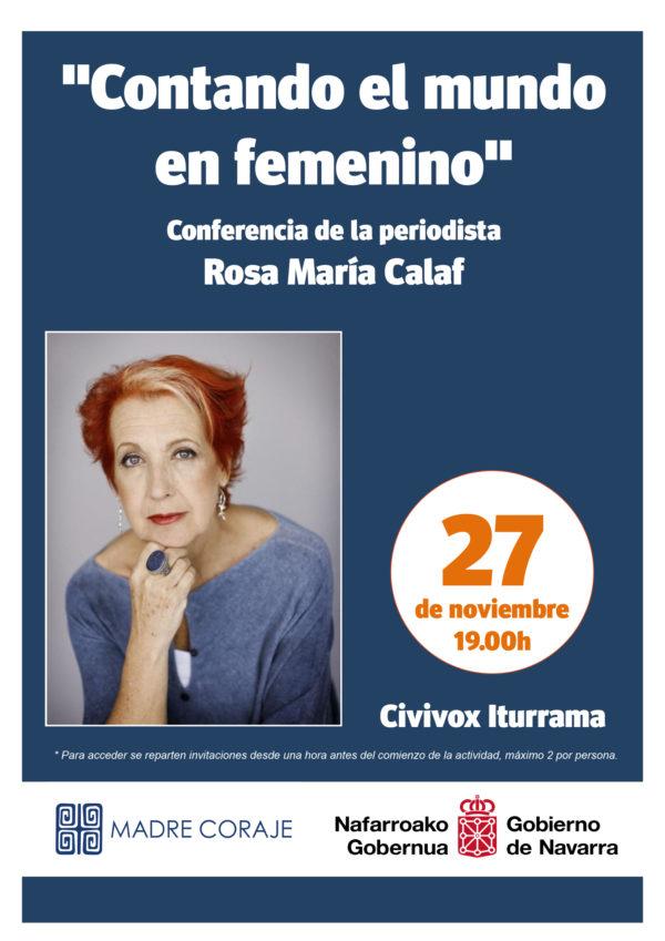 """Charla """"Contando el mundo en femenino"""" con Rosa Mª Calaf"""