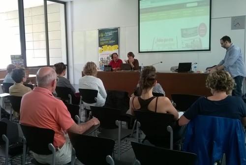 Un momento de la presentación en Pamplona