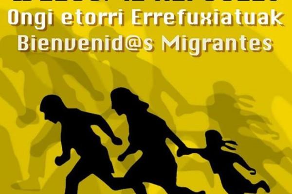 cartel refugiados