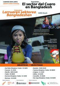 """Exposición itinerante """"El sector del cuero en Bangladesh"""" (+Kamishibai+ Taller muñecas) @ Biblioteca de Navarra"""