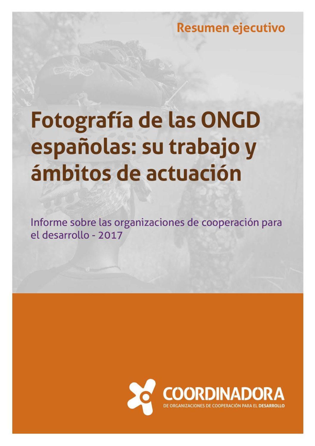 Fotografía de las ONGD españolas: su trabajo y ámbitos de actuación