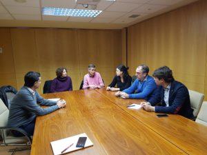 La nueva Junta Directiva de la Coordinadora de ONGD y el presidente de la FNMC repasan los planes de trabajo conjuntos