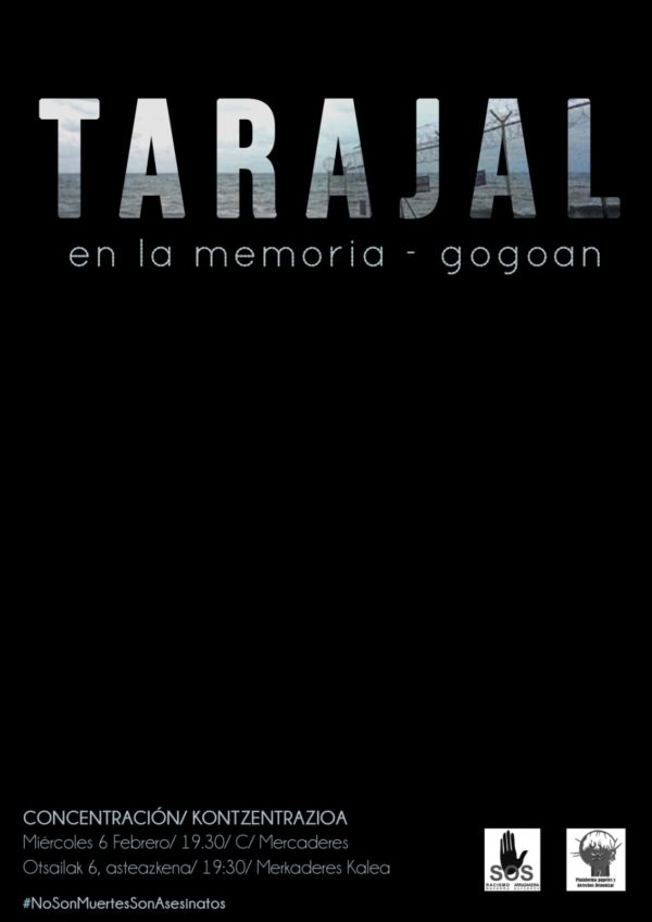 """Concentración """"Tarajal en la memoria_ gogoan"""""""