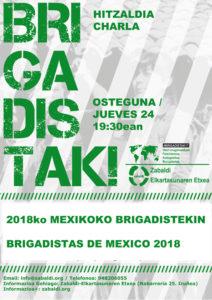 Charla con las brigadistas de Zabaldi en México @ Zabaldi