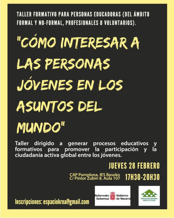 """Taller Kreamundos: """"Cómo interesar a la juventud en los problemas del mundo"""""""
