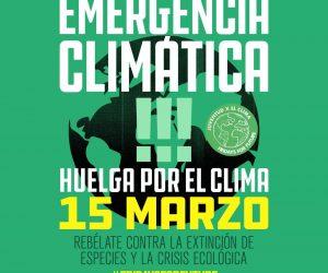 Animamos a participar en las movilizaciones mundiales por el clima (15 de Marzo)
