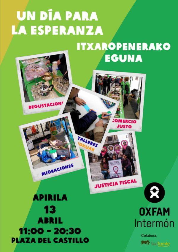 """Fiesta de la solidaridad de Oxfam Intermón """"Un día para la Esperanza: Contra la desigualdad"""""""