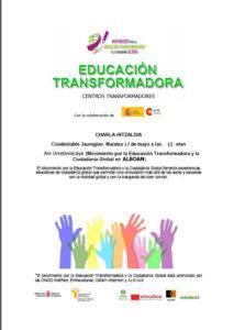 """Charla """"Educación transformadora"""". Centros transformadores"""