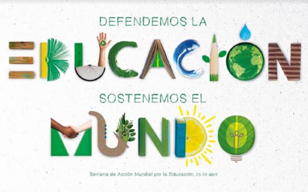 Estudiantes y docentes de toda Navarra se movilizan para reclamar el derecho a la educación como instrumento para avanzar en la sostenibilidad medioambiental y social