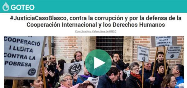 Apoyemos a la Coordinadora Valenciana en el juicio contra Blasco #JusticiaCasoBlasco