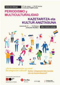 """Mesa de diálogo """"Periodismo y multiculturalidad ¿Es la comunicación un canal de integración cultural?"""" @ Civican"""