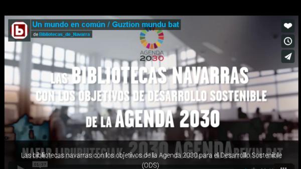 Las bibliotecas navarras programan actividades en torno a la Agenda 2030 para el Desarrollo Sostenible