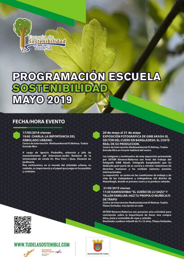 Actividades en la Escuela de Sostenibilidad de Tudela (Mayo)