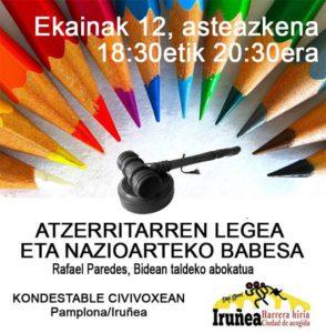 """Charla """"Ley de Extranjería y protección internacional"""""""