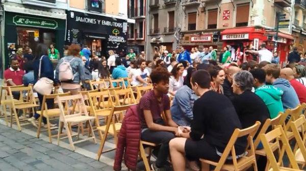 Numerosos actos en Pamplona/Iruña por el Día Internacional de las personas refugiadas.