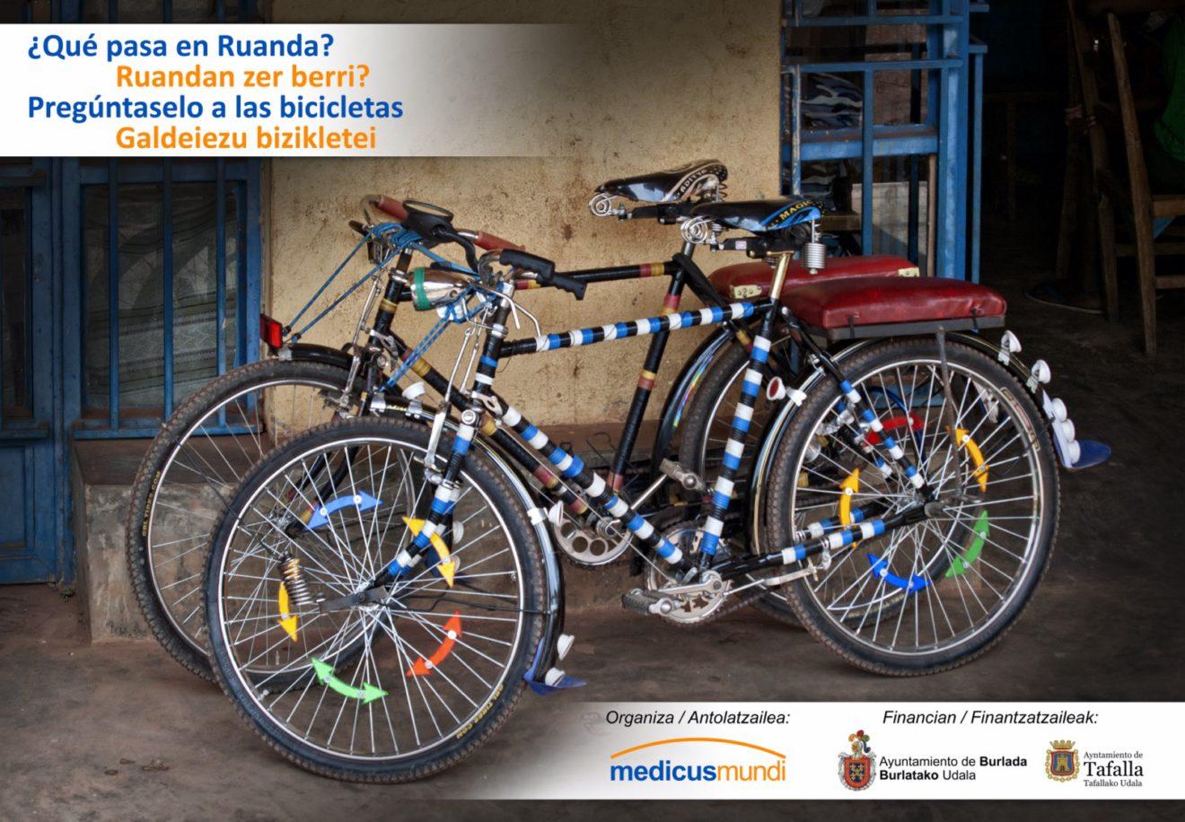 Exposición fotográfica ¿Qué pasa en Ruanda? Pregúntaselo a las bicicletas/ Ruandan zer berri? Galdeiezu bizikletei