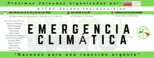 Jornadas sobre Emergencia Climática 2019 @ Palacio Condestable