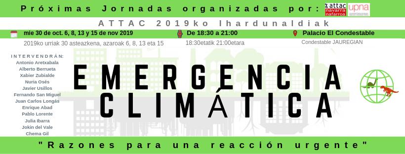 Jornadas sobre Emergencia Climática 2019