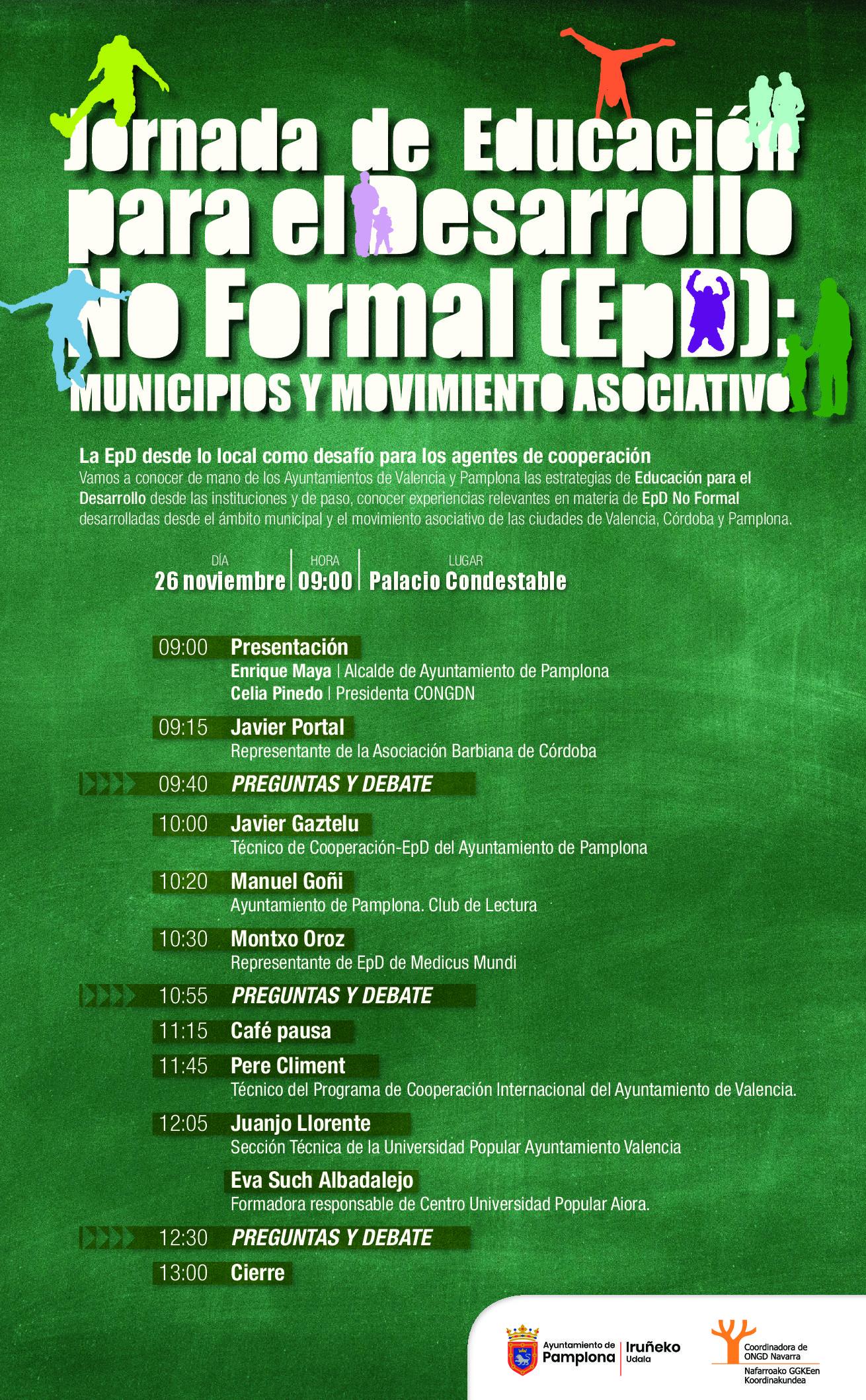 Jornada de Educación para el Desarrollo No Formal (EpD): Municipios y Movimiento Asociativo