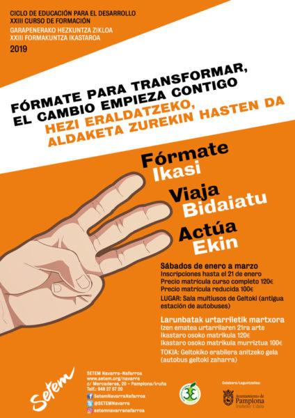 """Curso de Formación 2020: """"Fórmate para transformar, el cambio empieza contigo"""" (inscripciones hasta 16 Enero)"""