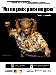 """Teatro y coloquio """"No es país para negras"""" @ Casa de la Juventud. Pamplona"""