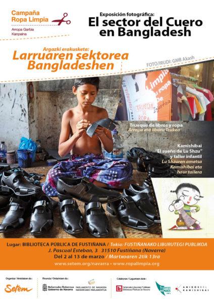 """Exposición itinerante """"El sector del cuero en Bangladesh"""" + Kamishibai (cuenta cuentos) """"El sueño de Lu Shzu"""""""